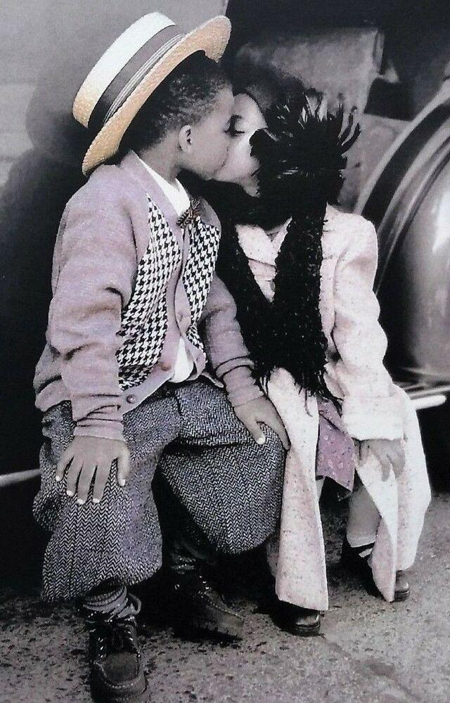 Love Cute Kiss Kissing Couple Relationship Colors Vintage