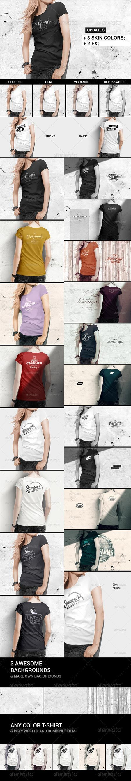 Women T-Shirt Mock-Up 8504847 » Free Special GFX Posts Vectors AEP Projects PSD Web Templates