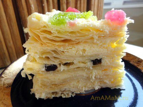 Вкусный торт с черносливом - простой рецепт для домашнего приготовления