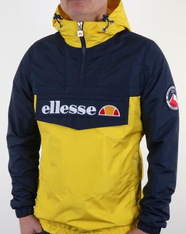 1123b1e7 Ellesse Quarter Zip Overhead Jacket in Navy/Yellow | Cool stuff in ...