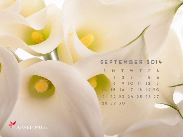 September 2014 Calendar - Download for free on Flower Muse blog.