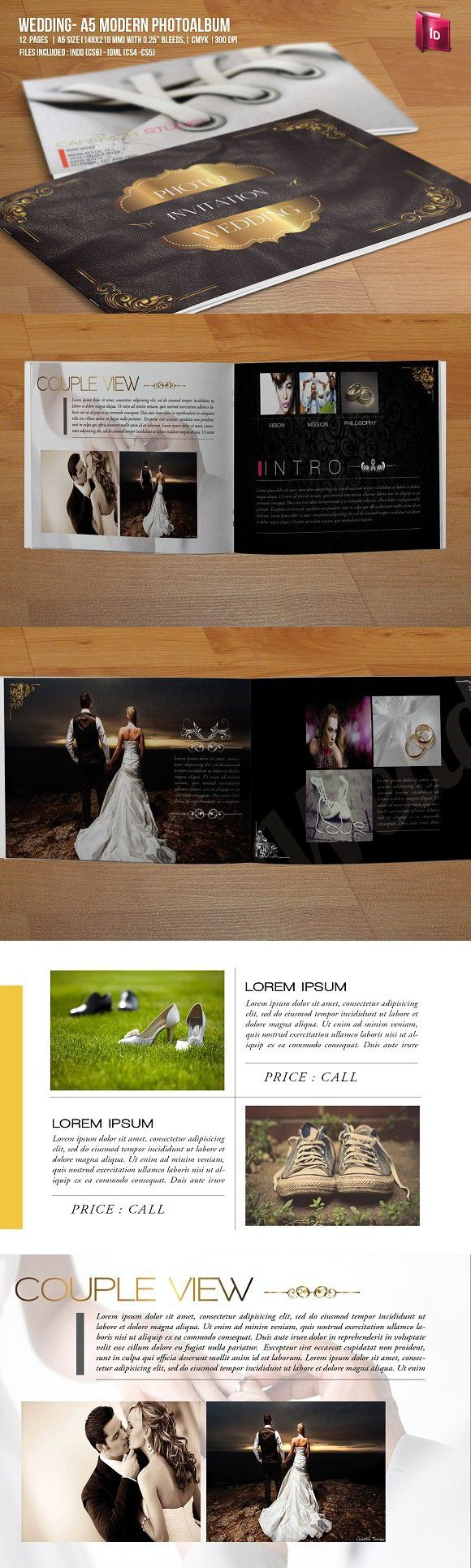 Wedding - A5 Modern Photo Album. Wedding Fonts