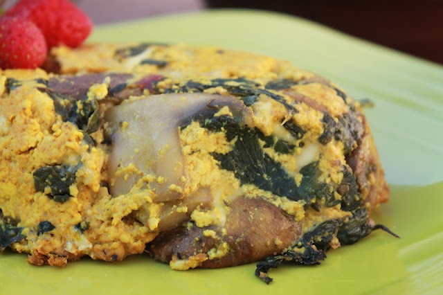 vegan mushroom and swiss chard frittata | Vegan Lasagna/Casseroles ...