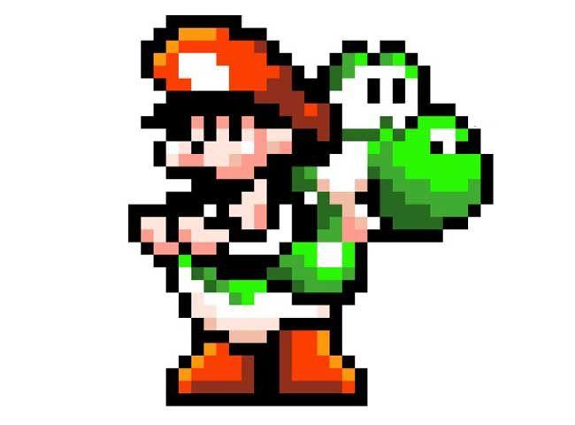 Pixel Papercraft - 2D Yoshi Carrying Baby Mario Free ...
