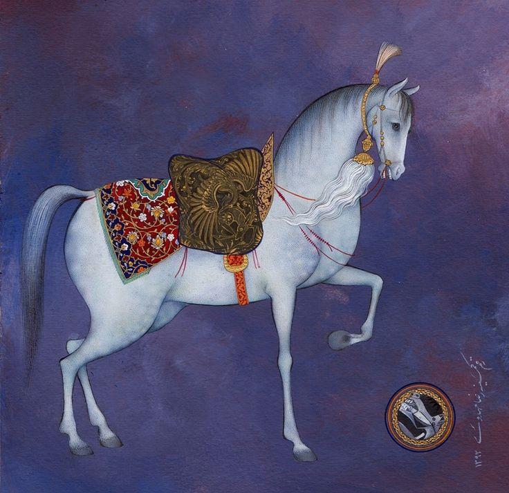 Persian horse / رضا مهدوی نگارگر / اسب ایران ... http://www.ayferaytac.com/tum-makaleler.html