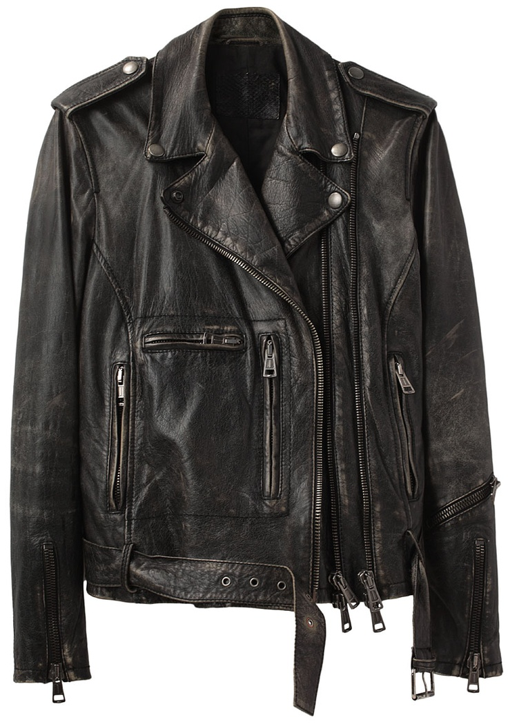 R13 Leather Moto Jacket | Deri Ceketler
