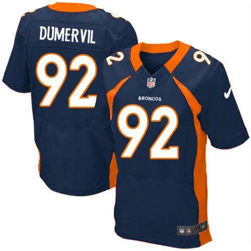 new style 7da68 a9678 ... Mens Nike Denver Broncos 92 Elvis Dumervil Elite Navy Blue Alternate  NFL Jersey Sale ...