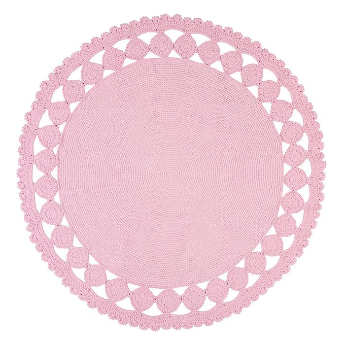 Pink Cut Out Rug .