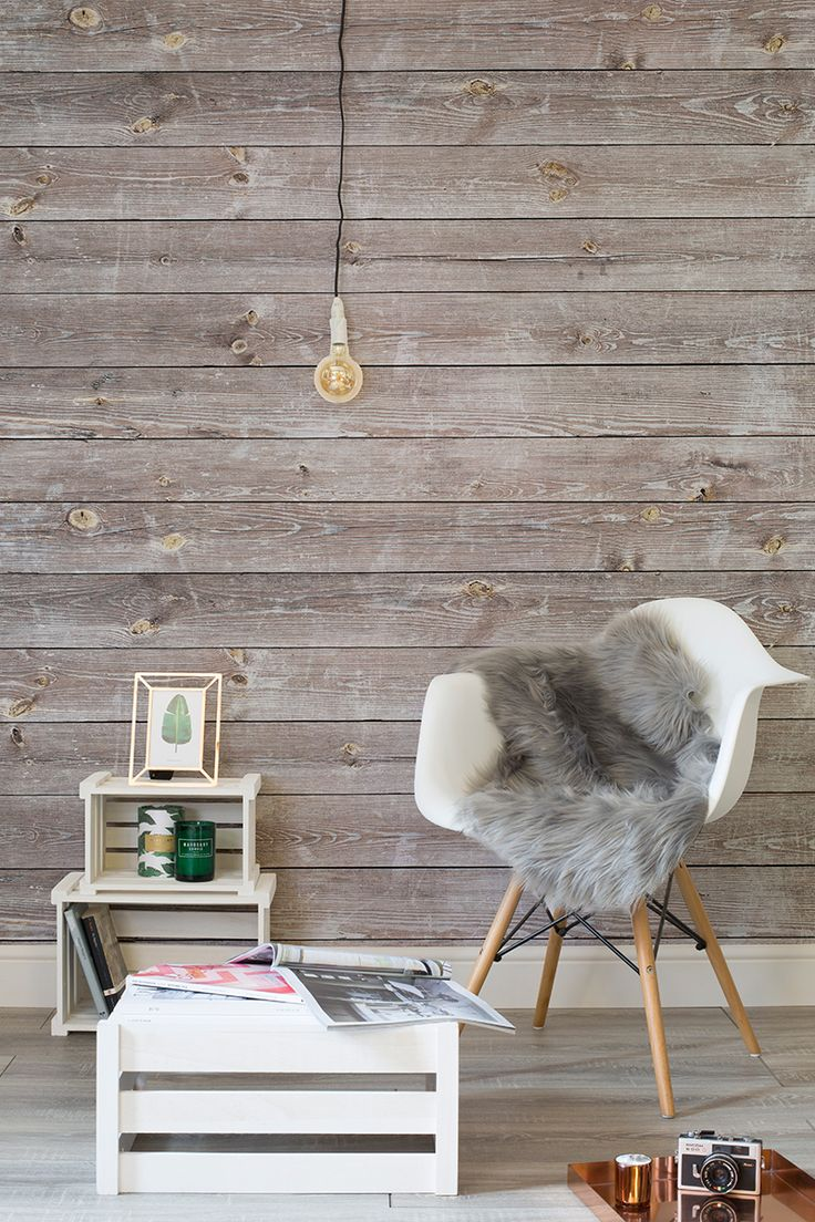 Rustic chic combines luxury living with soft textures and understated furnishings. This wood effect wallpaper helps to bring out these details and creates an ultramodern feel to your home.