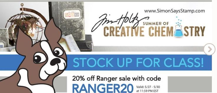 #papercrafting #deals alert! Save 20% off #Ranger products at #SimonSaysStamp through Memorial Day 2016! And if you're planning to sign up for Tim Holtz's Creative Chemistry III, this is a perfect time to stock up on supplies for this online class. :) Click here: http://www.shareasale.com/r.cfm?b=207449&u=443543&m=24698&urllink=&afftrack=  and enter code RANGER20 to save 20% today! #crafting #stamping #scrapbooking #cardmaking #mixedmedia