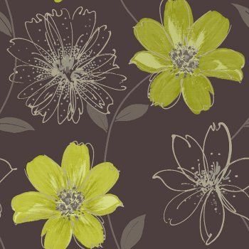 Love This Arthouse Samba Motif Wallpaper Brown Lime Green For My Office