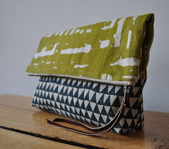 pouchDiy Ideas, Shoulder Bags, At Home, Handbags, Cute Ideas, Clutches Bags, Tribal Prints, Windows Triangles, Large Pouch