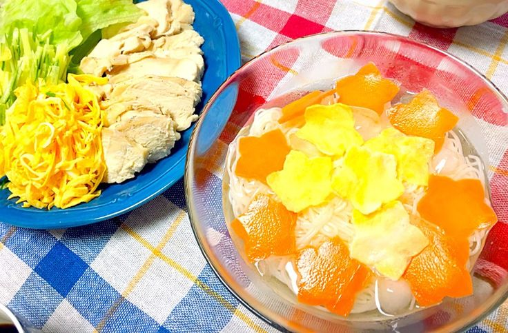 しらたま's dish photo 七夕ディナー | http://snapdish.co #SnapDish #七夕 #晩ご飯 #蒸し物 #肉料理 #そうめん