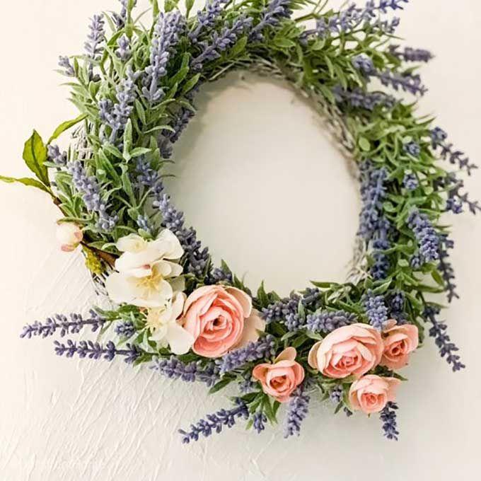 Spring Wreath Ideas Purple Wreath Lavender Wreath Farmhouse