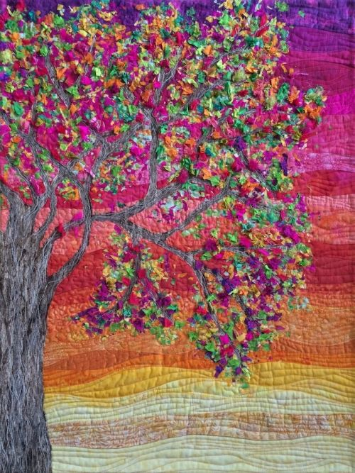 Tree of My Life confetti quilt with you yube video. need confetti powder from gailhunt.com