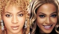 Beyonce before Nose & Breast Imp.