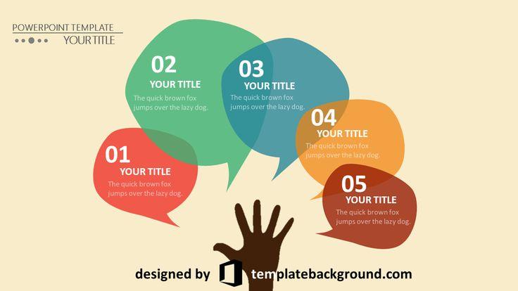 Template presentation slide