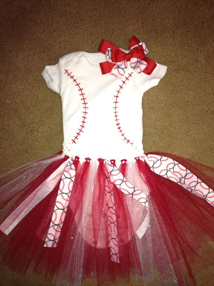 Baby Girl S Baseball Outfit This Afternoon S Craft
