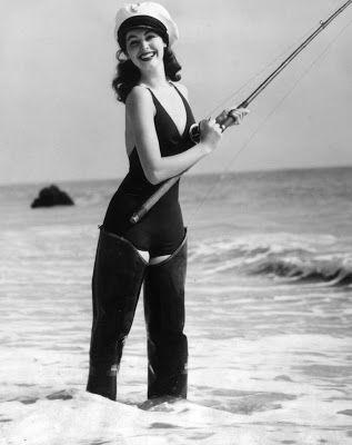 Ava Gardner waders