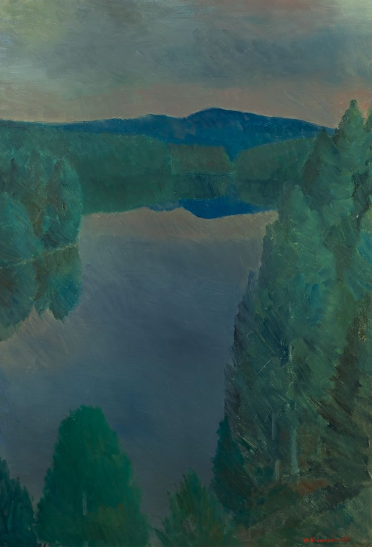 Veikko Vionoja: Näköalapaikka, öljy, 108x75 cm - Hagelstam K134