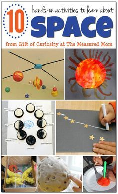 10 Fun space activities for kids by Anna Geiger..Looking for space activities for kids? You'll love this collection of hands-on learning ideas!