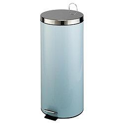 Pale blue kitchen bin.
