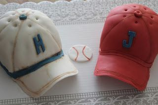 S.A. Cakes: Baseball hats for twin birthday cakes