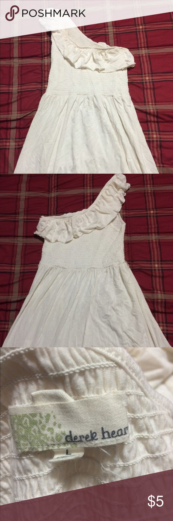 Cream one strap dress Cute top. I wore it with black leggings, super cute!!! Size Large. H&M Tops Blouses