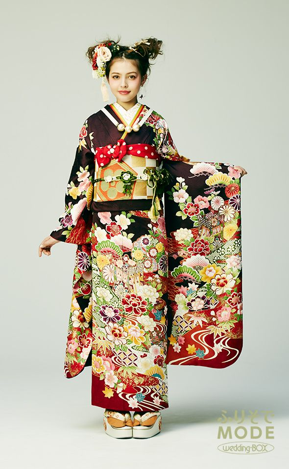 「加藤ナナ」が着るパープル(紫)のおしゃれでクールで正統派な振り袖 | 成人式振袖レンタル-ふりそでMODE