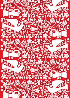 Alexander Girard - Dove and Hand (wrapping paper)...