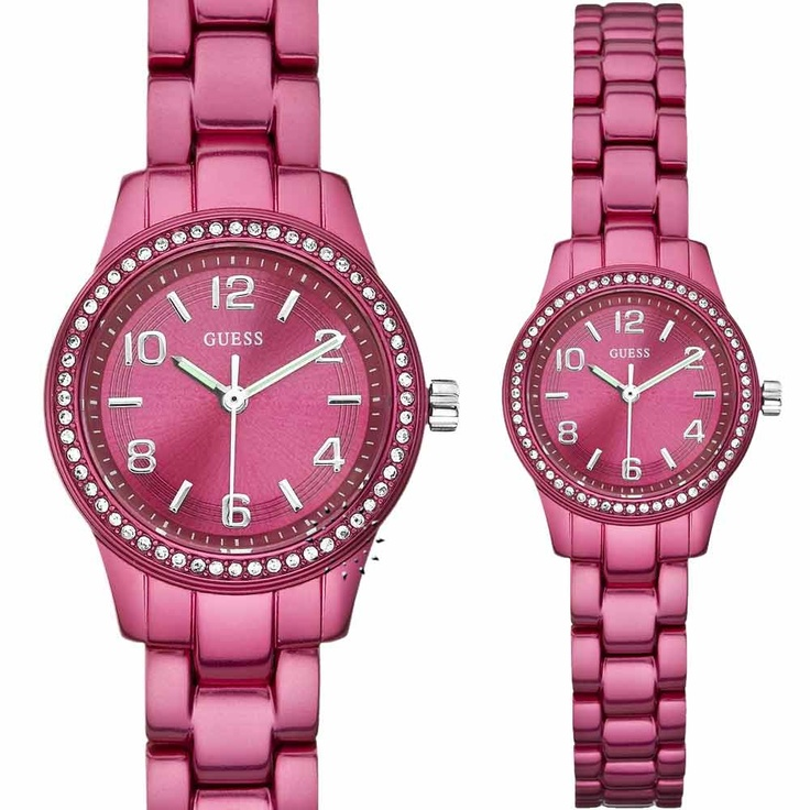 Guess Magenta Ladies Aluminum Bracelet  Μοντέλο: W80074L1  Τιμή: 108€  http://www.oroloi.gr/product_info.php?products_id=27432