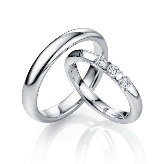 950 Platinum wedding bands with diamonds. Platinum band. Platinum wedding rings. Platinum wedding band set. Platinum rings.