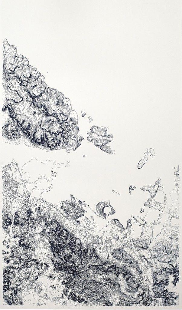 Armelle Caron | Paysages courbes (serigraphie 6ex)