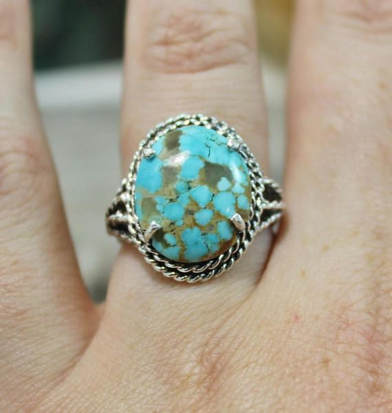 Turquoise Ring 8 Turquoise Sterling silver silver ring