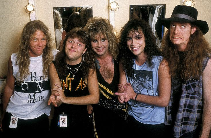 Metallica with Ozzy Osbourne ~ 1986