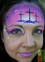 3 Crosses By Artist Jody Rife Simple Face Painting Designs