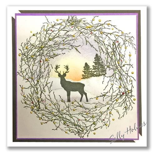 Silhouette Stag Deer Set