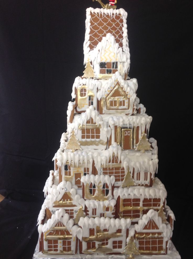 Don't let your pipes Royal icing techniques go to waste on gingerbread houses. Here I used piping,pressure piping flood work