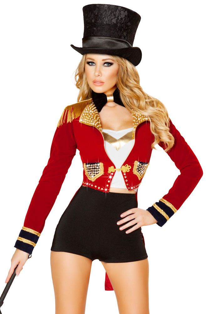 Deluxe Womens Circus High Waisted Ringleader Costume | eBay