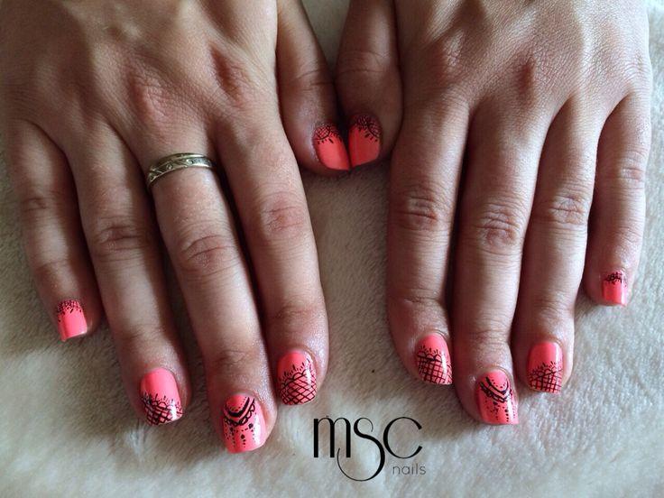 #nails #chinaglaze #lace #encaje #uñas #nailart #alysique