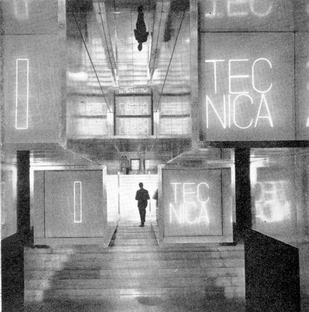 13rd Milan Triennale, 1964. Il Caleidoscopio  by Vittorio Gregotti, Giotto Stoppino, Lodovico Meneghetti and Peppo Brivio. Image taken from exhibition catalogue 13rd Triennale, Milan, 1964.