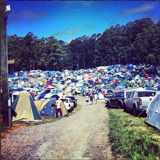Falls Festival - Lorne, Victoria. The huge camp site!