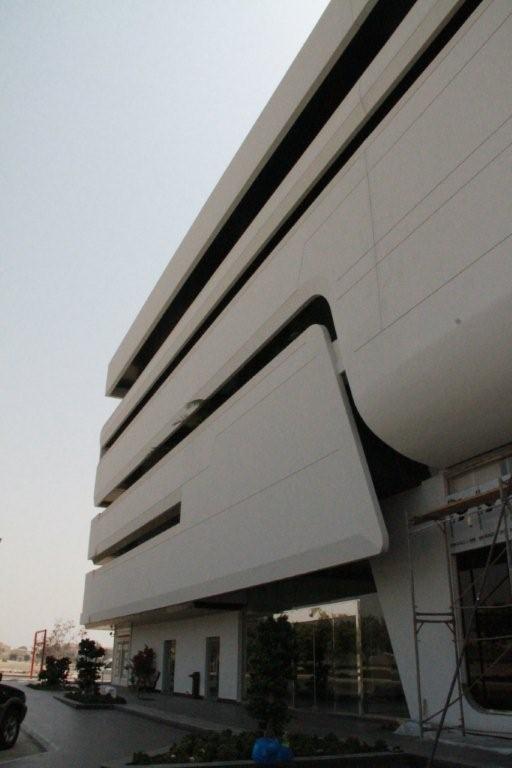 Bouganvillea mall Jeddah, detail of north elevation