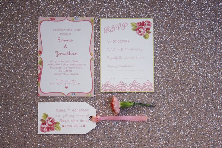 Vintage floral inspired designs by Paper Wedding. www.paperwedding.co.uk Photographs by Michelle Huggleston Photography
