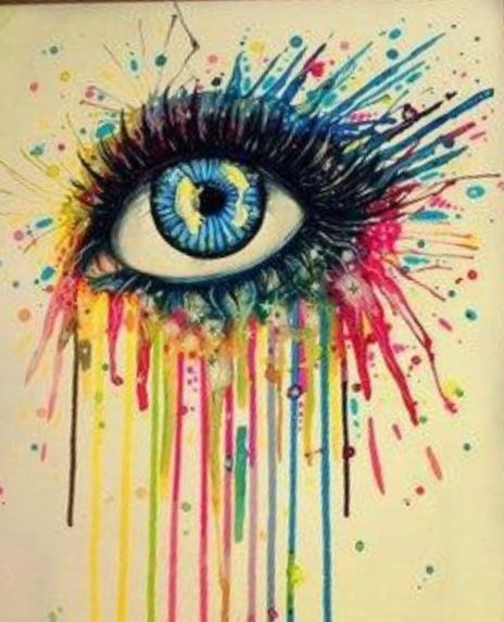 Melted crayon eye Cool :)