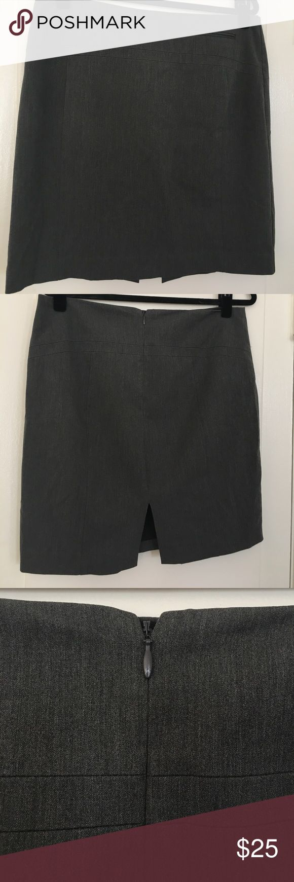 Express Charcoal Gray Pencil Skirt Charcoal grey pencil skirt from Express in size 10.  In great condition worn only a handful of times.  Perfect for work! Express Skirts Pencil