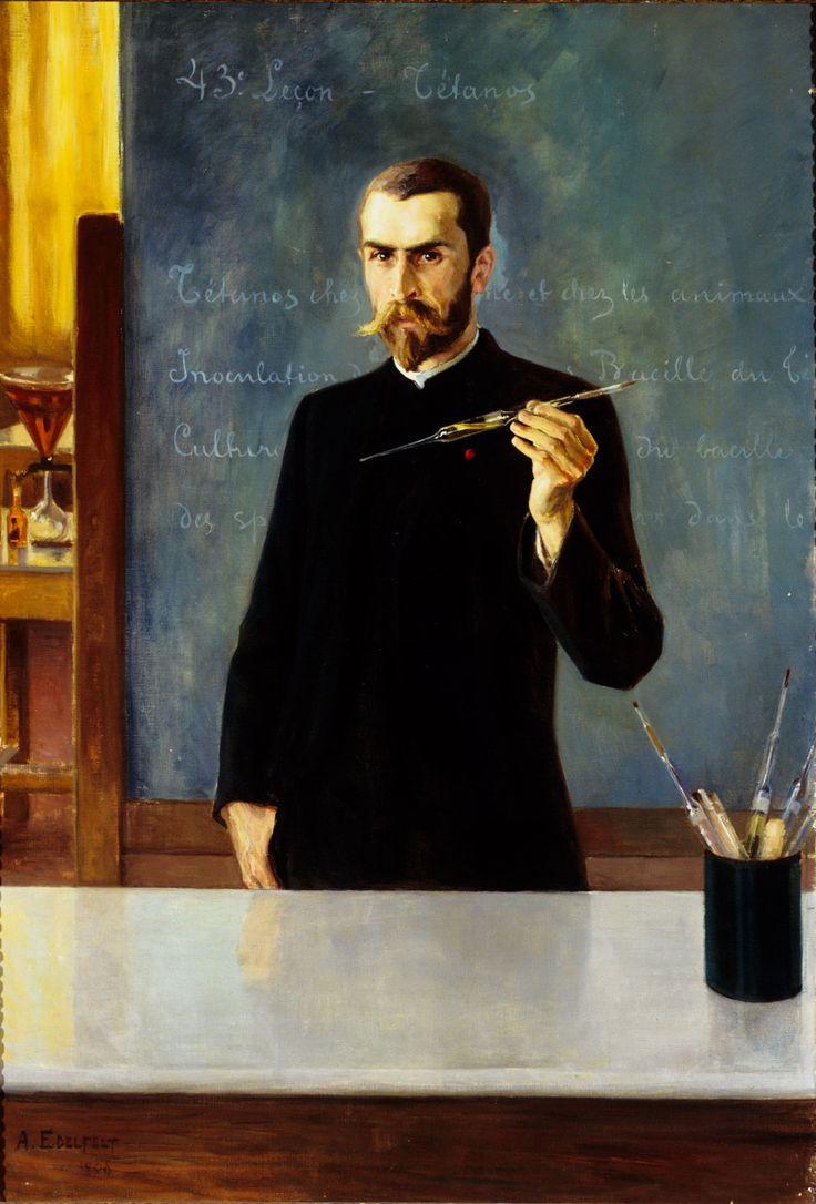 Albert Edelfelt: Portrait of Dr. Emile Roux, 1896.
