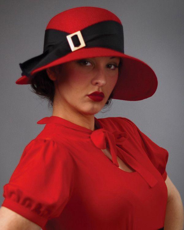 3193HLPL Helena, paglina, red w/black