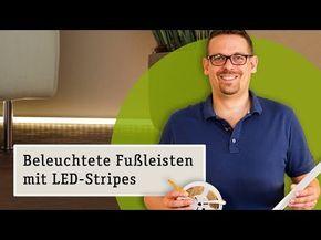 Beleuchtete Fußleiste. Delta Profil mit Diffusor 2m Alu Paulmann Licht