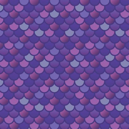 Mermaid Fish Scales in Purple fabric  1 by littlefishcreations, $19.00